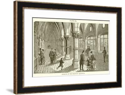 Interior of the Brighton Aquarium--Framed Giclee Print
