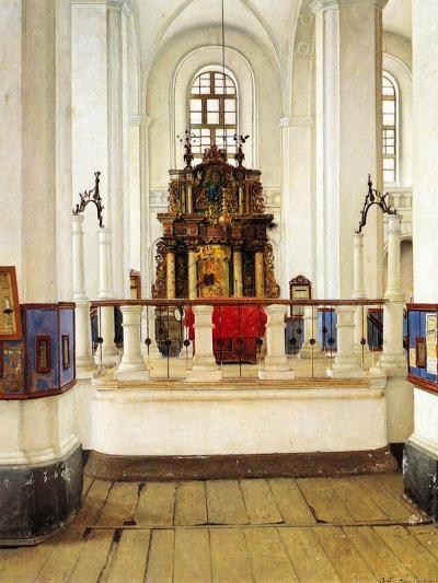 Interior of the Brody Synagogue-Isidor Kaufmann-Art Print