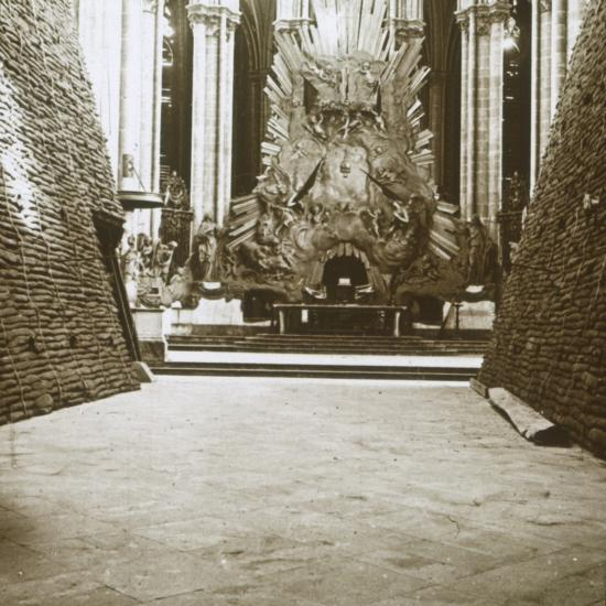 Interior of the cathedral, Amiens, northern France, c1914-c1918-Unknown-Photographic Print