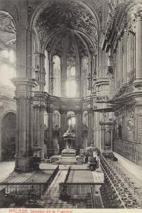 Interior of the Cathedral, Malaga, Spain