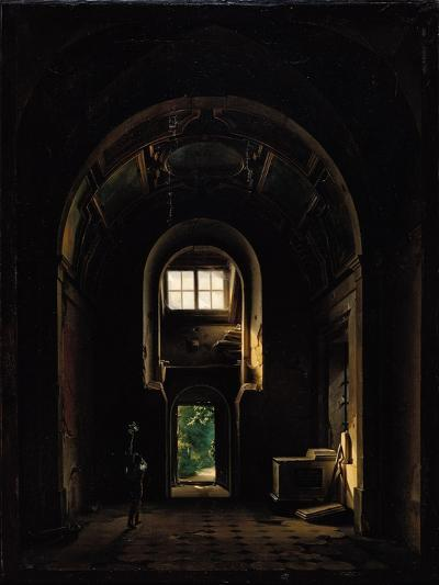 Interior of the Chapel of Saint-Philippe in the Eglise des Feuillants in Paris, 1814-Louis Jacques Mande Daguerre-Giclee Print