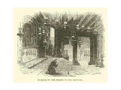 Interior of the Chapel of the Nativity--Giclee Print