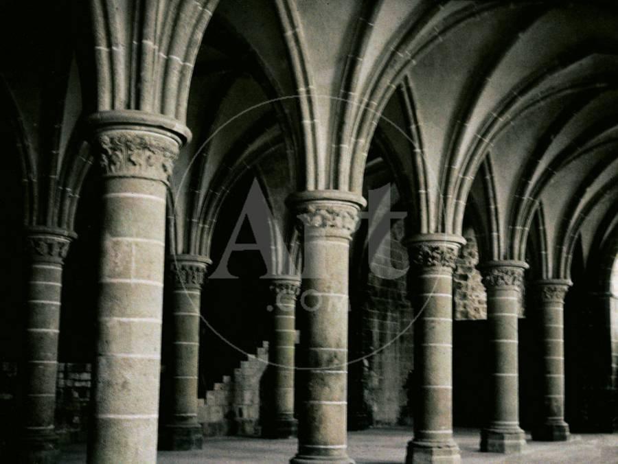 Interior Of The Church Of Mont Saint Michel France Photographic Print By Henrie Chouanard Art Com