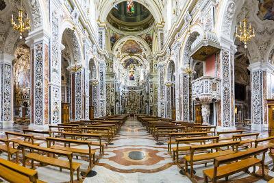 Interior of the Church of Saint Mary of Gesu (Chiesa Del Gesu) (Casa Professa)-Matthew Williams-Ellis-Photographic Print