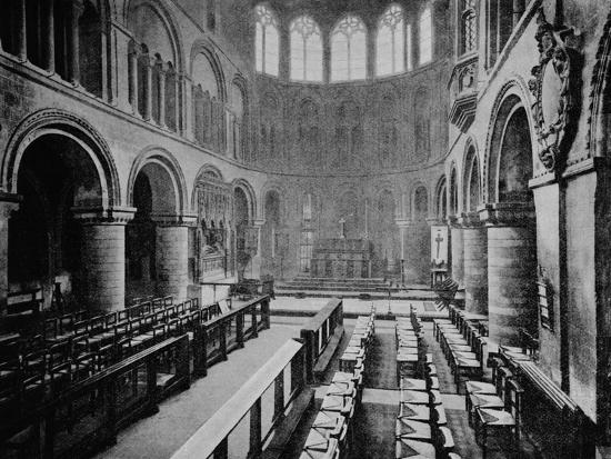 Interior of the Church of St Bartholomew the Great, West Smithfield, City of London, 1906-Unknown-Photographic Print