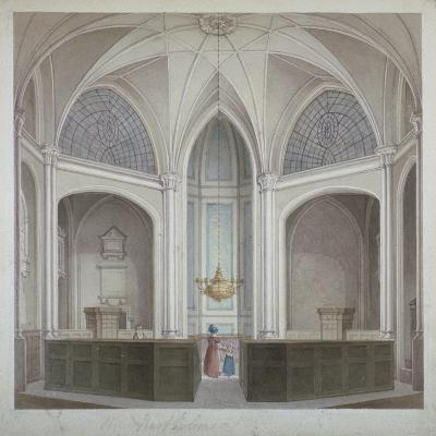 Interior of the Church of St Bartholomew-The-Less, City of London, 1834-Robert Blemmell Schnebbelie-Giclee Print
