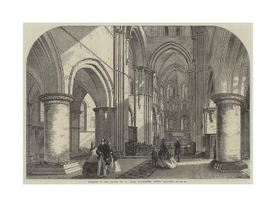Interior of the Church of St Cross, Winchester, Lately Restored--Giclee Print