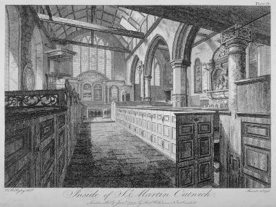 Interior of the Church of St Martin Outwich, City of London, 1796-Barrett-Giclee Print