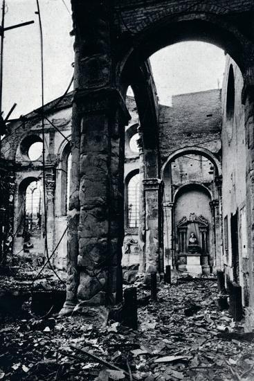 'Interior of the Church of St. Mary Le Bow, Cheapside burnt out in an air raid', 1941-Unknown-Photographic Print