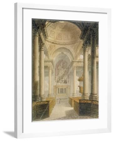 Interior of the Church of St Stephen Walbrook, City of London, 1810-Frederick Mackenzie-Framed Giclee Print