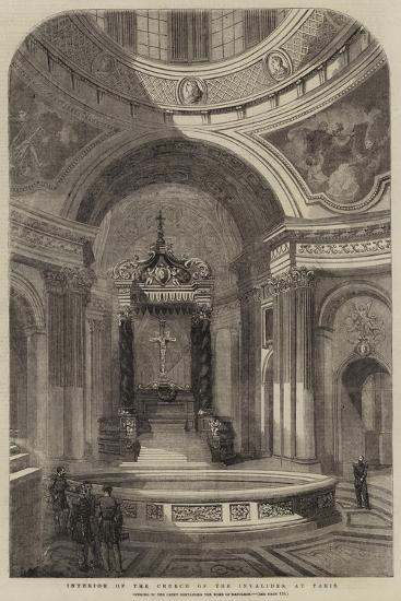 Interior of the Church of the Invalides, at Paris--Giclee Print