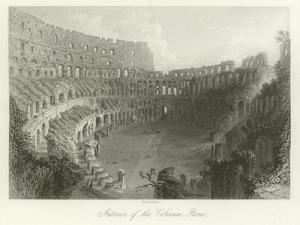 Interior of the Coliseum, Rome