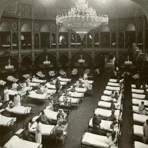 Interior of the Commodious Hospital at Brighton, Sussex, World War I, 1914-1918