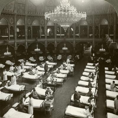 Interior of the Commodious Hospital at Brighton, Sussex, World War I, 1914-1918--Photographic Print