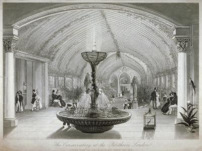 Interior of the Conservatory in the Pantheon on Oxford Street, London, C1834--Giclee Print