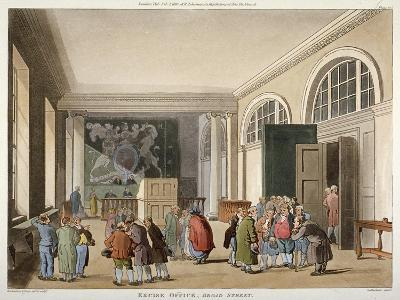 Interior of the Excise Office, Old Broad Street, City of London, 1810-Thomas Sutherland-Giclee Print