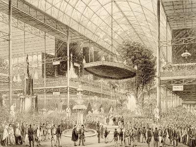 Interior of the Great Exhibition, Grand State Opening May 1, 1851--Giclee Print