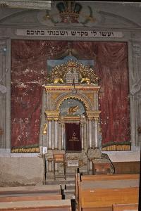 Interior of the Great Jewish Temple, Vatra Dornei, Romania