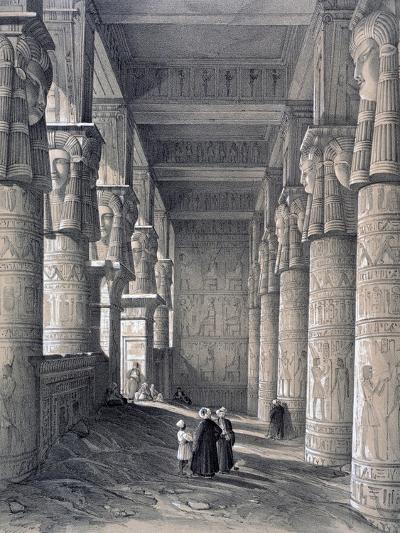 Interior of the Great Temple, Denderah, Egypt, 1843-George Moore-Giclee Print