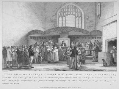 Interior of the Guildhall Chapel, City of London, 1817-M Springsguth-Giclee Print