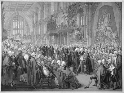 Interior of the Guildhall, City of London, 1782-Benjamin Smith-Giclee Print