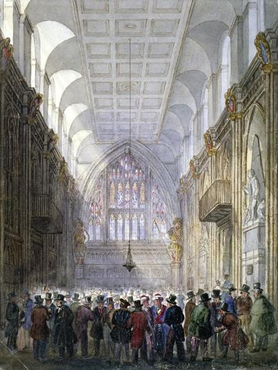 Interior of the Guildhall, City of London, 1838-C Matthews-Giclee Print
