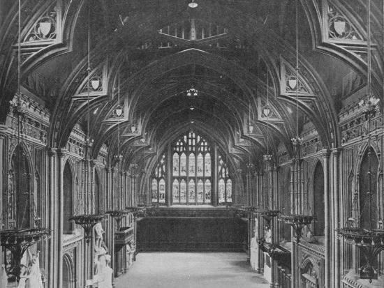 Interior of the Guildhall, City of London, c1904 (1906)-Photochrom Co Ltd of London-Photographic Print