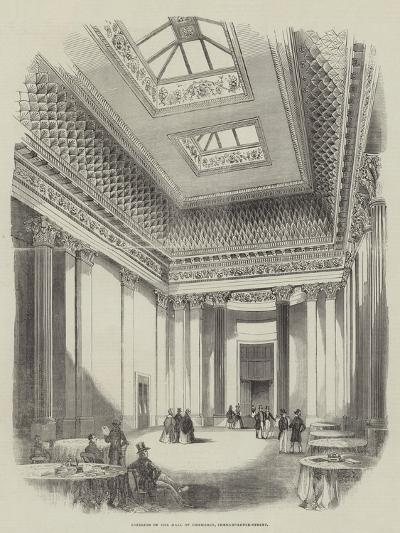 Interior of the Hall of Commerce, Threadneedle-Street--Giclee Print