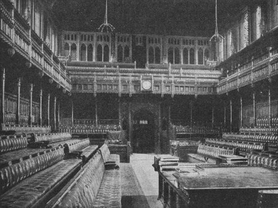 Interior of the House of Commons, Westminster, looking towards the Strangers Gallery, 1909-Unknown-Photographic Print