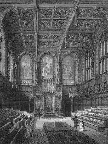 Interior of the House of Lords, Palace of Westminster, London c1878 (1878)-Unknown-Giclee Print