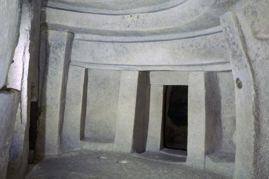 Interior of the Hypogeum of Hal Saflieni on Malta. Artist: Unknown-Unknown-Photographic Print