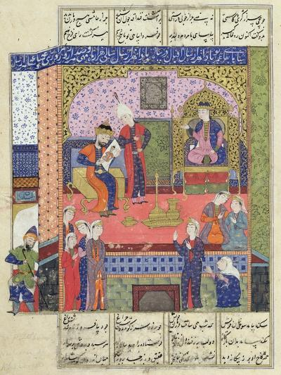 "Interior of the King of Persia's Palace, Illustration from the ""Shahnama"" (Book of Kings)--Giclee Print"