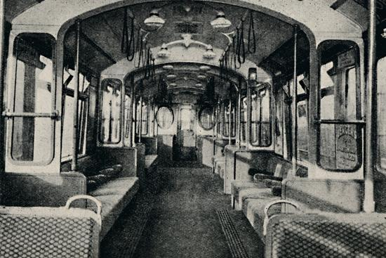 'Interior of the Latest Type of Tube Coach', 1926-Unknown-Photographic Print