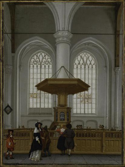 Interior of the Laurenskerk at Rotterdam, 1662-Anthonie de Lorme-Giclee Print