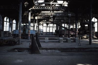 Interior of the Le Creusot Railway Workshops, Burgundy, France--Photographic Print