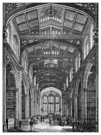 Interior of the Library, Guildhall, City of London, 1886--Giclee Print