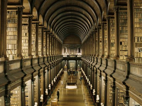 Interior of the Library, Trinity College, Dublin, Eire (Republic of Ireland)-Michael Short-Photographic Print