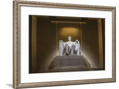 Interior of the Lincoln Memorial Lit Up at Night-Michael Nolan-Framed Photographic Print