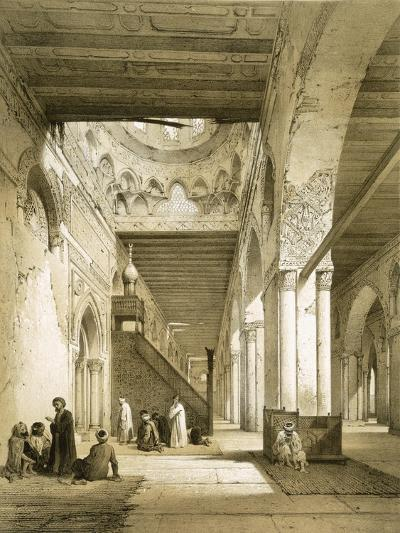 Interior of the Maqsourah in the 9th Century Mosque of Ahmed Ibn-Touloun, Cairo (Litho)-Philibert Joseph Girault de Prangey-Giclee Print