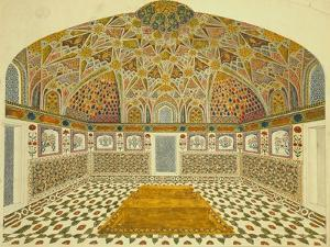 Interior of the Mausoleum of Itimad-Ud Daula, Agra, India
