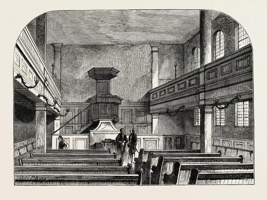 Interior of the Moravian Chapel in Fetter Lane London--Giclee Print