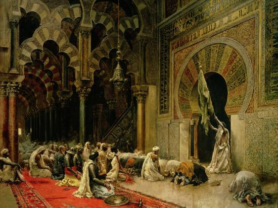 Interior of the Mosque at Cordoba, C.1880-Edwin Lord Weeks-Giclee Print
