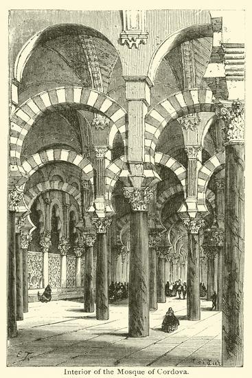 Interior of the Mosque of Cordova--Giclee Print