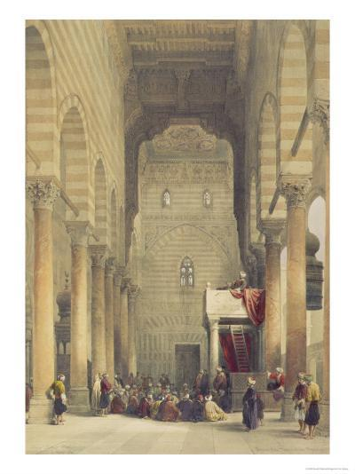 Interior of the Mosque of the Metwalys, Cairo, from Egypt and Nubia, Vol.3-David Roberts-Giclee Print