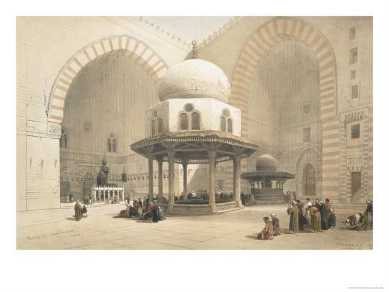 Interior of the Mosque of the Sultan El Ghoree, Cairo, from Egypt and Nubia, Vol.3-David Roberts-Giclee Print