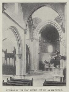 Interior of the New German Church at Jerusalem