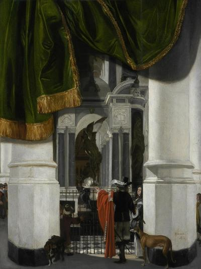 Interior of the Nieuwe Kerk in Delft with the Tomb of William the Silent, 1653-Emanuel de Witte-Giclee Print