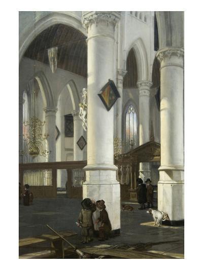 Interior of the Old Church in Delft, 1650–52-Emanuel de Witte-Art Print