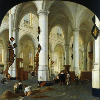 Interior of the Oude Kerk in Delft-Hendrik Cornelisz van Vliet-Giclee Print
