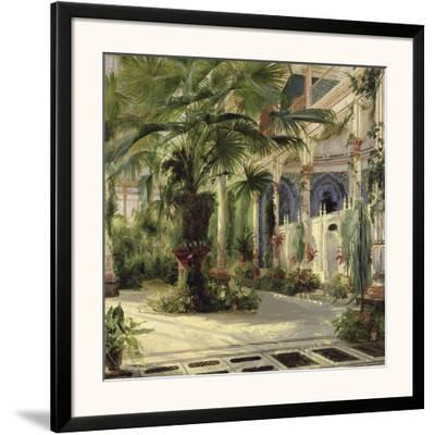 Interior of the Palm House at Potsdam I-Karl Blechen-Framed Art Print